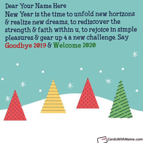 Unique Goodbye 2019 Hello 2020 Messages With Name
