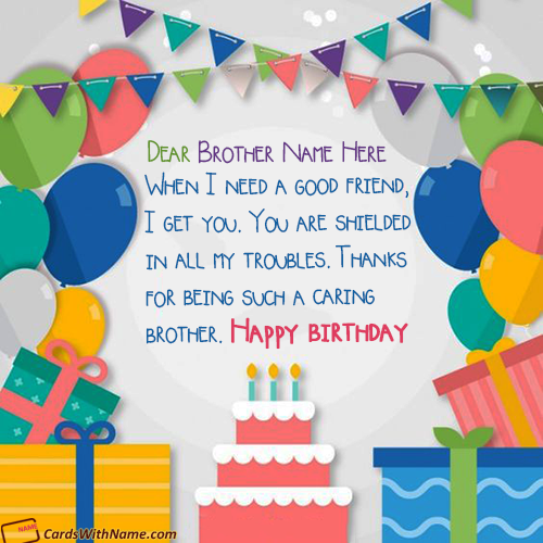 Unique Happy Birthday Brother Quotes With Name Edit