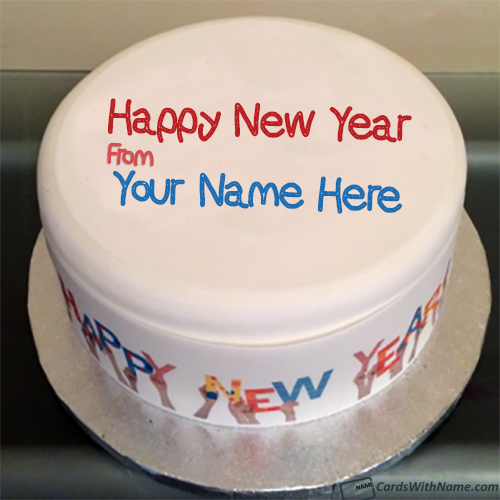 Unique Happy New Year Cakes with Name Generator