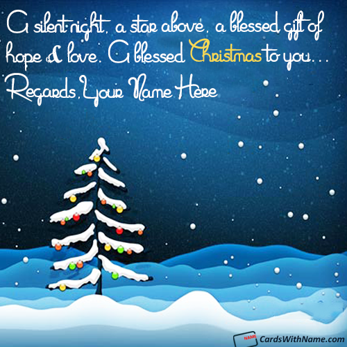 Winter Snow Fall Christmas Night Name Wishes