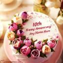 10th Anniversary Cake With Name Editing Online