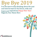 Bye Bye 2019 Wishes Quotes With Name Generator
