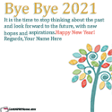 Bye Bye 2020 Wishes Quotes With Name Generator