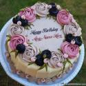 Elegant Birthday Cake For Her With Name Generator