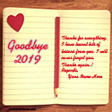 Goodbye 2019 Thanks For Memories With Name Maker