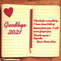 Goodbye 2020 Thanks For Memories With Name Maker