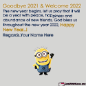 Goodbye 2020 Welcome 2021 Quotes Sayings With Name
