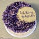 Happy Eid Mubarak Cake With Name Edit