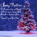 Merry Christmas Wishes Quotes With Name Maker