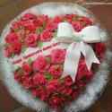 Roses Heart Happy Anniversary Cake For Wife With Name