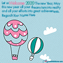Welcome 2020 Best Wishes Quotes With Name Maker Online
