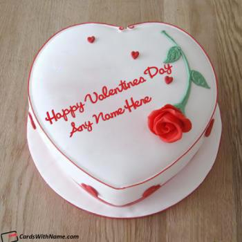 Best Happy Valentine Day Cake Name Edit