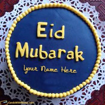 Best Wishes Eid Mubarak Cake With Name