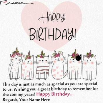 Create Cutest Birthday Quotes With Name Editor