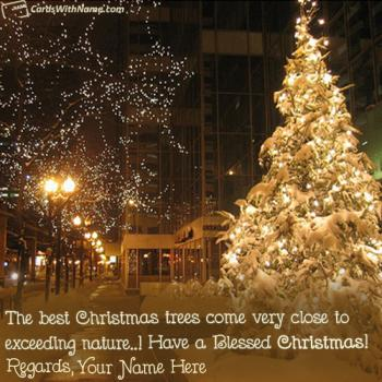 Decorated Christmas Tree Best Quotes With Name