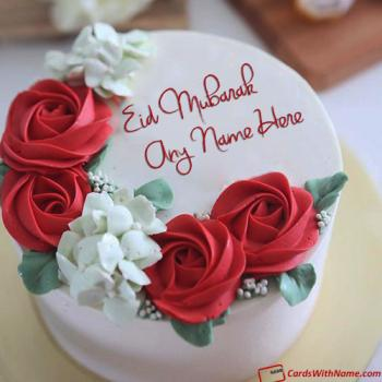 Eid Mubarak Cake With Name For Friends