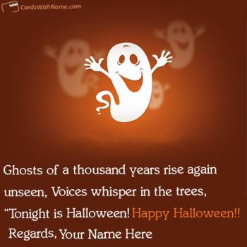 Happy Halloween Greetings Cards With Name