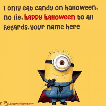 Funny Minion Halloween Wishes Pictures With Name