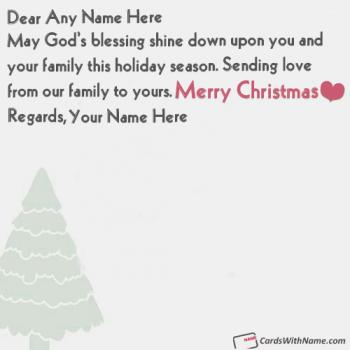 Handmade Christmas Greeting Cards With Name Editing