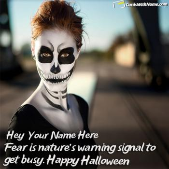 Happy Halloween Wishes Sayings Cards With Name