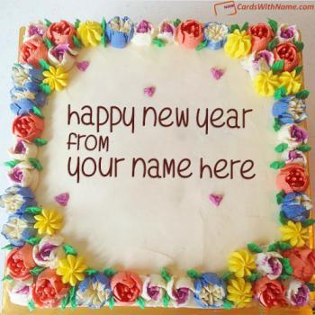 Happy New Year Cake Images With Name Online