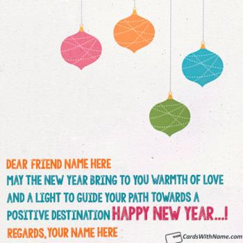 Happy New Year Wishes For Bestfriend With Name Maker