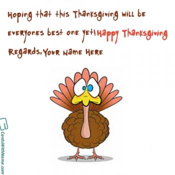 Happy Thanksgiving Wishes For Everyone Name Images
