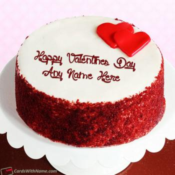 Happy Valentine Day Cake Name Photo Editing