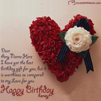 Happy birthday wishes card with name generator heart birthday card for girlfriend with name generator bookmarktalkfo Images