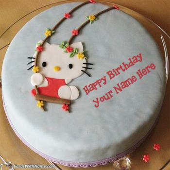 Hello Kitty Birthday Cake With Name Generator For Girl