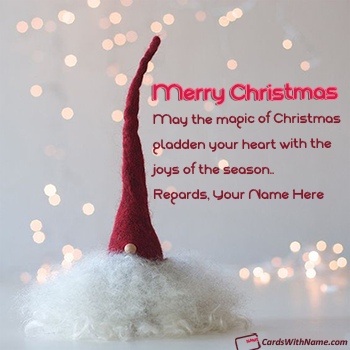 Merry Christmas Greetings With Name Maker Online