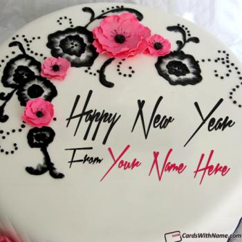 New Year Best Wishes Decorated Cake With Name