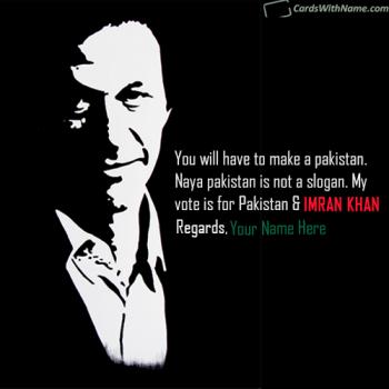 Online Election Name Wishes Generator For Imran Khan