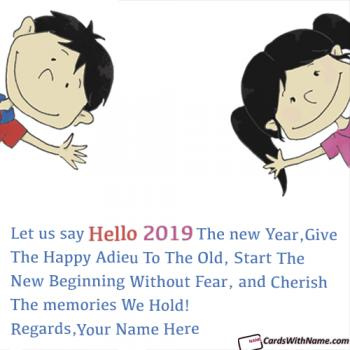 Say Hello 2019 Greeting Messages With Name Editor