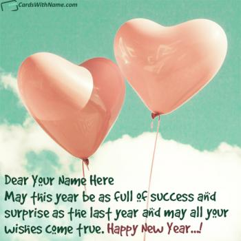 Send Best Happy New Year Wishes With Name Online