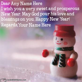 Send Handmade New Year Greeting Cards With Name