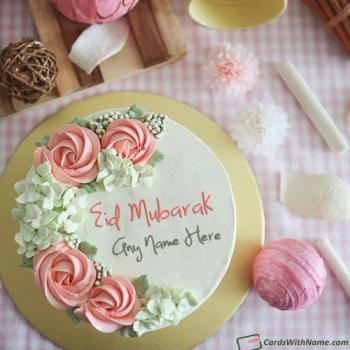 Special Eid Mubarak Cake With Name Edit