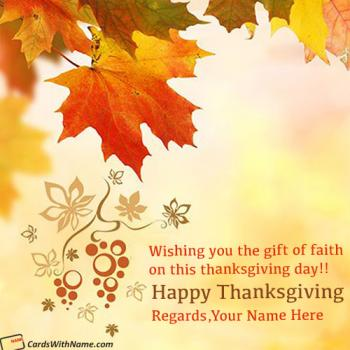 Thanksgiving Wishes Quotes With Name Images