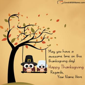 Thanksgiving Wishes Wording With Name Photo