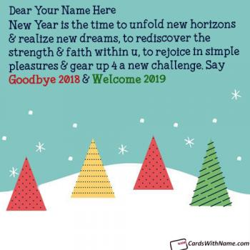 Unique Goodbye 2018 Hello 2019 Messages With Name