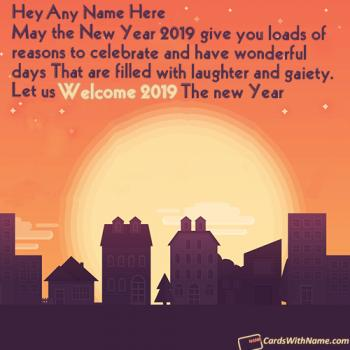 Welcome 2019 Wishes Messages With Name Generator