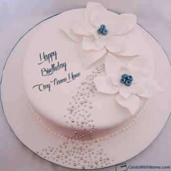 White Roses Happy Birthday Cake Images Free Download