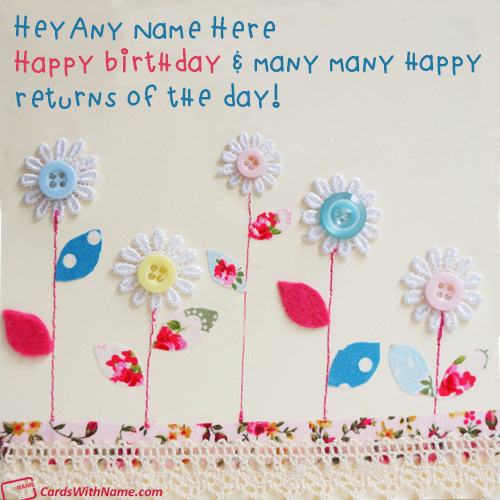 Printable Birthday Greeting Cards With Name