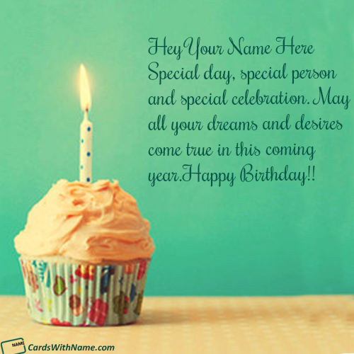 Create Birthday Wishes With Name Card Edit