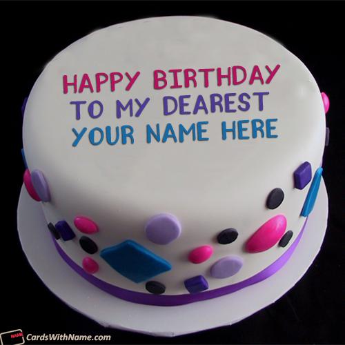 Happy Birthday Cake With Name Photo Editor