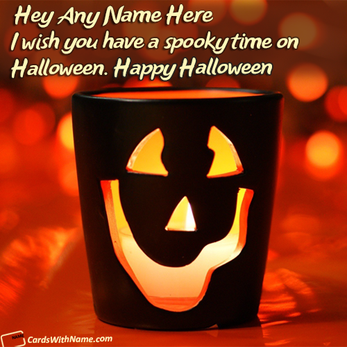 Happy Halloween Greetings Sayings Name Cards