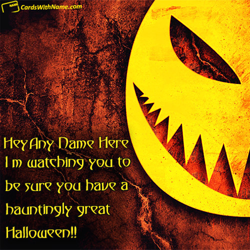 Happy halloween greetings cards with name happy halloween quotes messages name cards bookmarktalkfo Images
